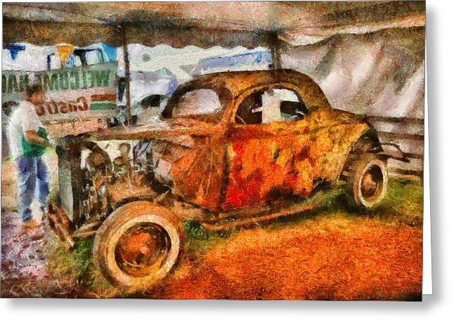 Car - At The Car Show Greeting Card by Mike Savad