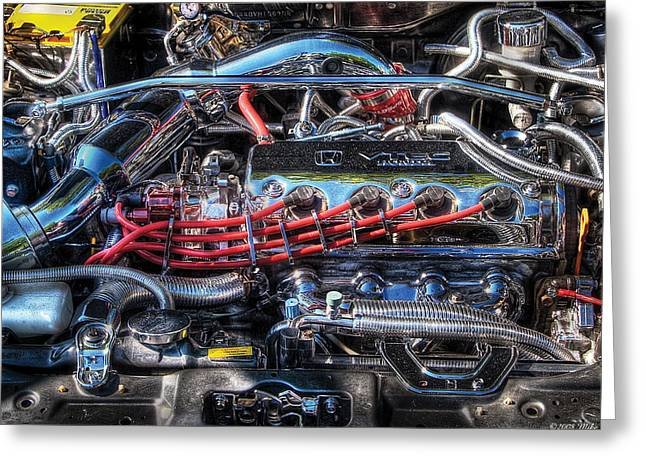 Wild Racers Greeting Cards - Car - Engine - Car Intestines Greeting Card by Mike Savad