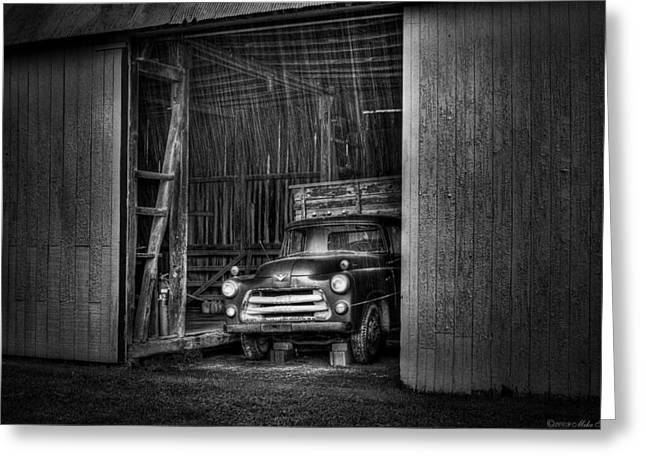 Old Trucks Greeting Cards - Car - Truck - The old truck out back Greeting Card by Mike Savad