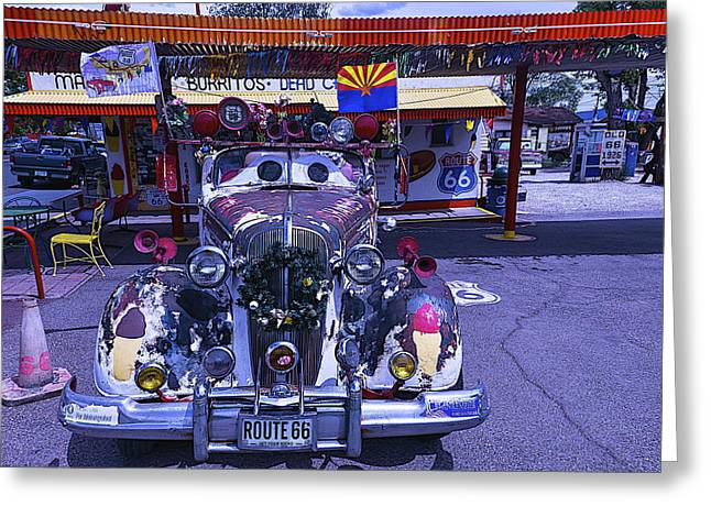 Snow Capped Greeting Cards - Car Eyes Greeting Card by Garry Gay