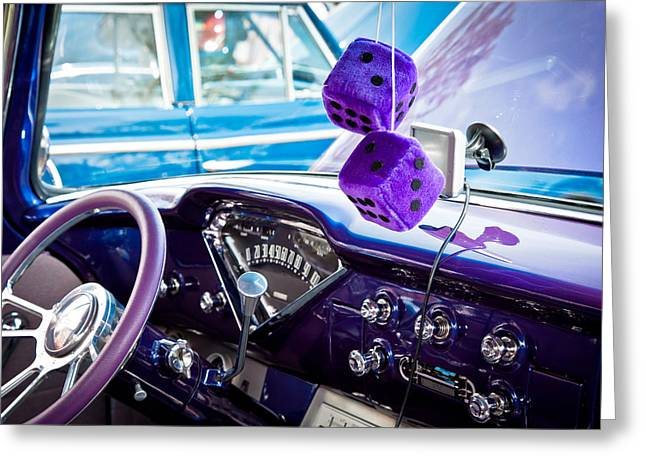 Purple V8 Greeting Cards - Car no.15 Greeting Card by Niels Nielsen