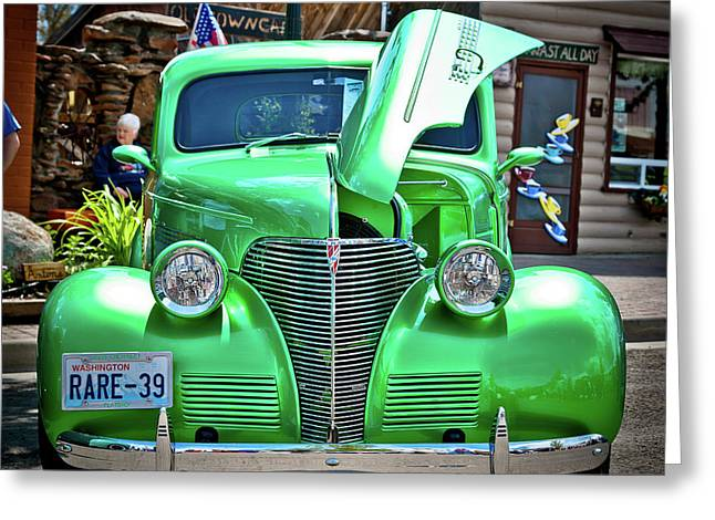 Steering Greeting Cards - Car no.2 - RARE-39 Greeting Card by Niels Nielsen