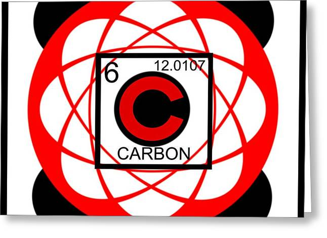 Neutron Greeting Cards - Carbon Greeting Card by Randolph Ping