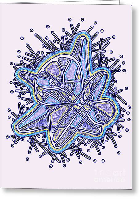 Layer Greeting Cards - Carbon Snowflake 1 Greeting Card by Peter Paul Lividini