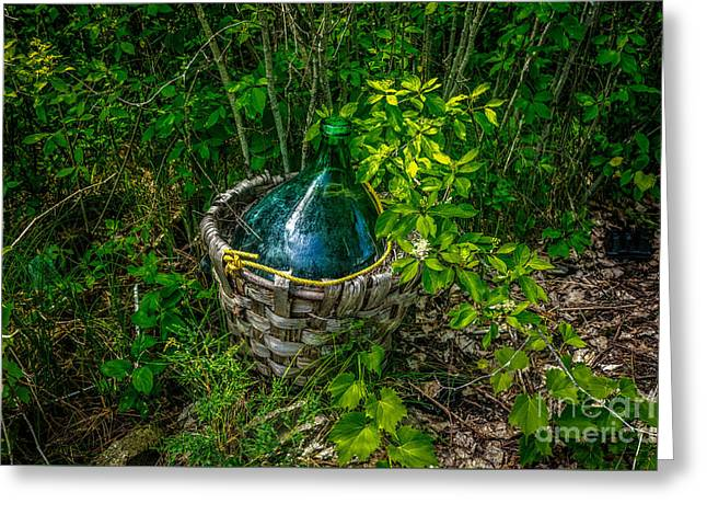 Carboy Greeting Cards - Carboy in a Basket Greeting Card by Roger Monahan