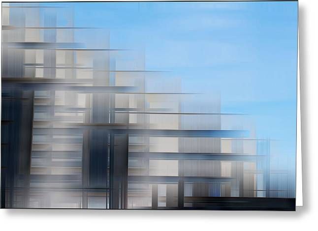 Layers Greeting Cards - Cardiff Bay Greeting Card by Peter Leech