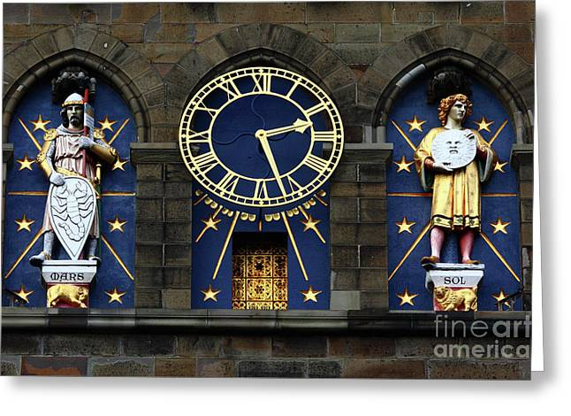 Cardiff Castle Clock Tower Detail 2 Greeting Card by James Brunker