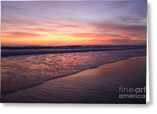 Ocean Landscape Greeting Cards - Cardiff Waves 48x72 Print Greeting Card by John Tsumas