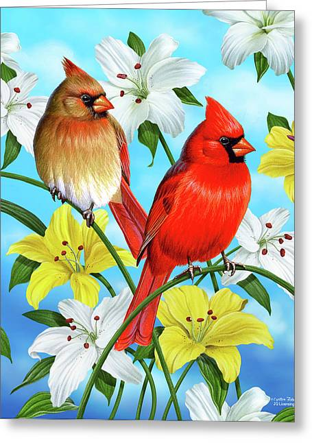 Homes Greeting Cards - Cardinal Day Greeting Card by JQ Licensing