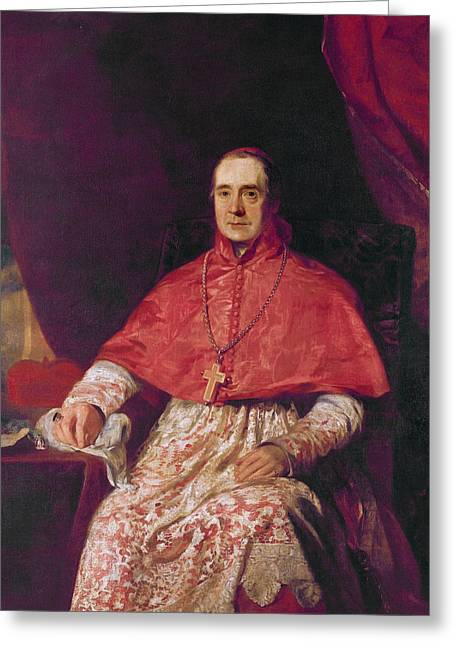 Cardinal Thomas Weld Greeting Card by Andrew Geddes