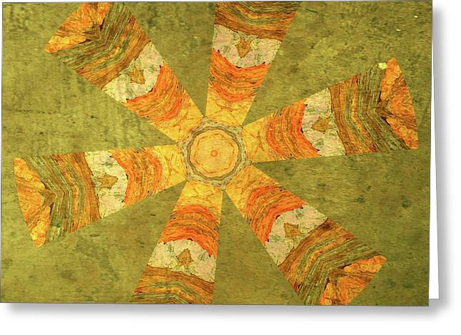 Tangerines Mixed Media Greeting Cards - Carefree Greeting Card by Bonnie Bruno