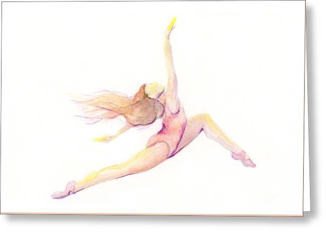 Ballet Dancers Greeting Cards - Carefree Dancer Greeting Card by Lauren Heller