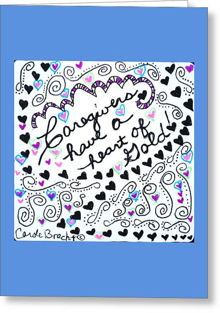 Caring Mother Greeting Cards - Caregiver Hearts Greeting Card by The Sandwich  Woman