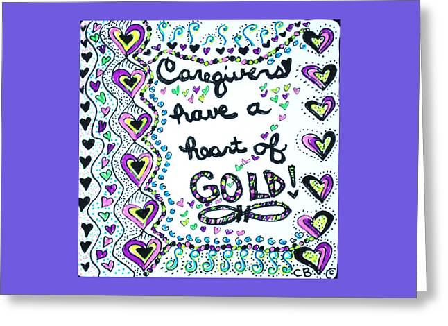 Caring Mother Greeting Cards - Caregiver Joy Greeting Card by The Sandwich  Woman