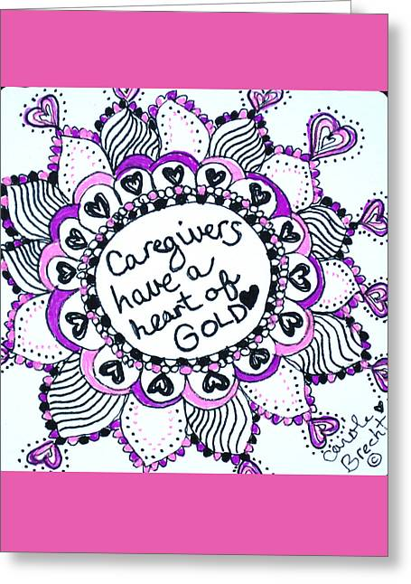 Caring Mother Greeting Cards - Caregiver Sun Greeting Card by The Sandwich  Woman