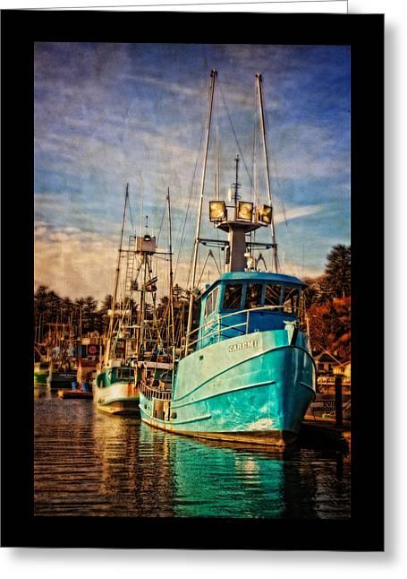 Fishing Boats Greeting Cards - Caremi Greeting Card by Thom Zehrfeld