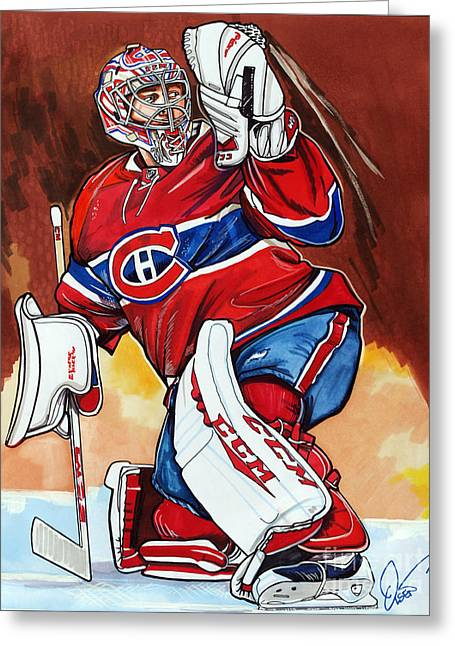 Carey Price Greeting Card by Dave Olsen