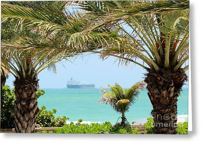 Rene Triay Photography Greeting Cards - Cargo on Hold Greeting Card by Rene Triay Photography