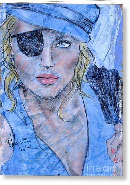 Caribbean Blue Greeting Card by P J Lewis