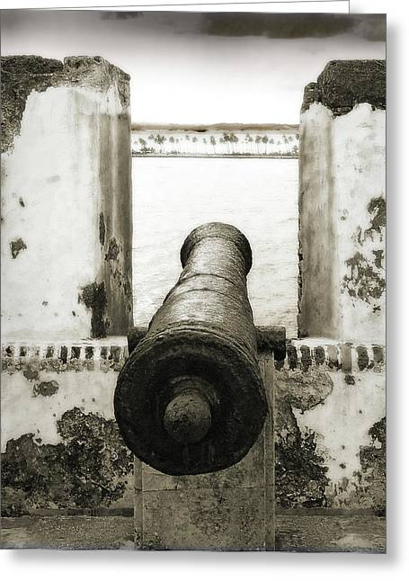 Castillo San Felipe Greeting Cards - Caribbean Cannon Greeting Card by Steven Sparks