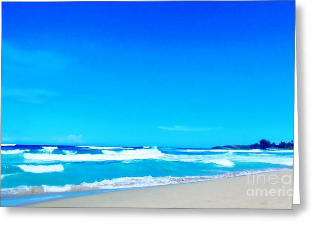 Tidal Photographs Greeting Cards - Caribbean Coast Greeting Card by Eloise Schneider