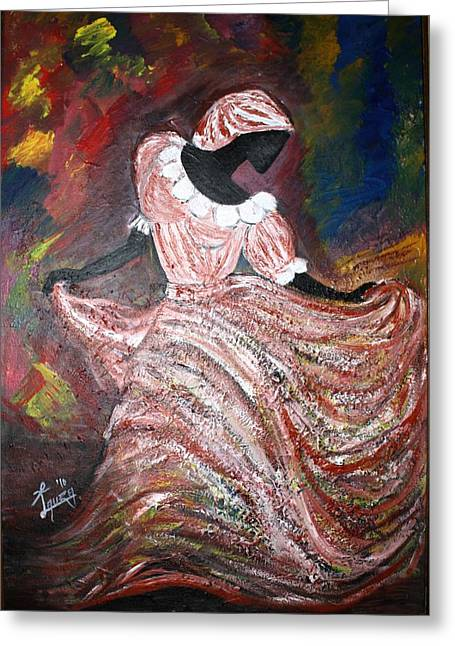 Philosophical Movement Greeting Cards - Caribbean Dancer Greeting Card by Laura Fatta