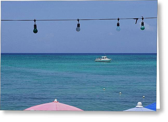 Sea View Greeting Cards - Caribbean Paradise Greeting Card by Laurie Perry