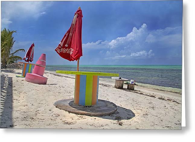 Caribbean Seaside Getaway Greeting Card by Betsy C Knapp
