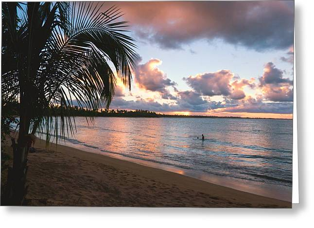 Puerto Rico Greeting Cards - Caribbean Sunset Greeting Card by George Oze
