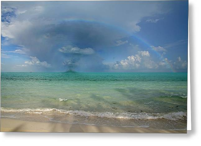 Caribbean Waterspout  Greeting Card by Betsy C Knapp
