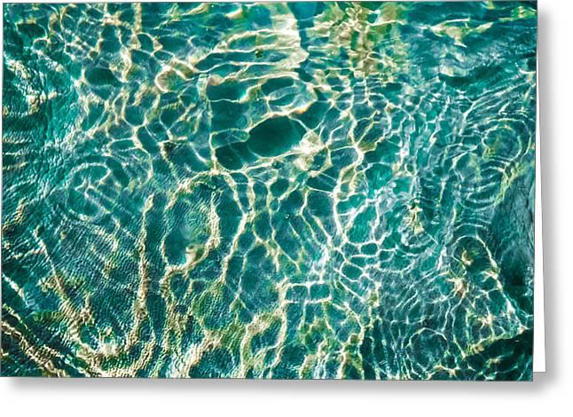 Caribben Waters Greeting Card by Karen Wiles