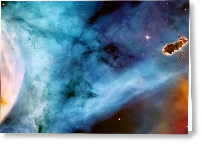 Nebula Cloud Greeting Cards - Carina Nebula #5 Greeting Card by The  Vault - Jennifer Rondinelli Reilly