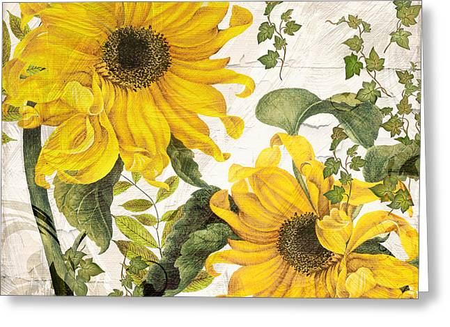 Recently Sold -  - Flower Blossom Greeting Cards - Carina Sunflowers Greeting Card by Mindy Sommers