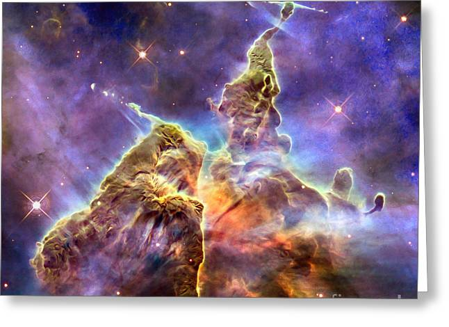 Astronomers Greeting Cards - Carinabula Greeting Card by Jon Neidert
