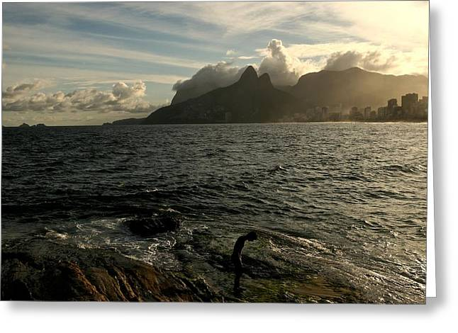 Ipanema Beach Greeting Cards - Carioca Greeting Card by Miranda  Miranda
