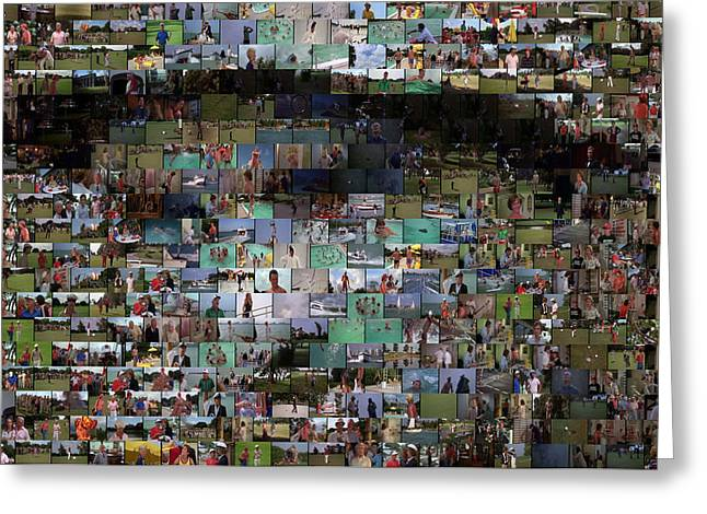 Carl Caddyshack Mosaic Greeting Card by Paul Van Scott