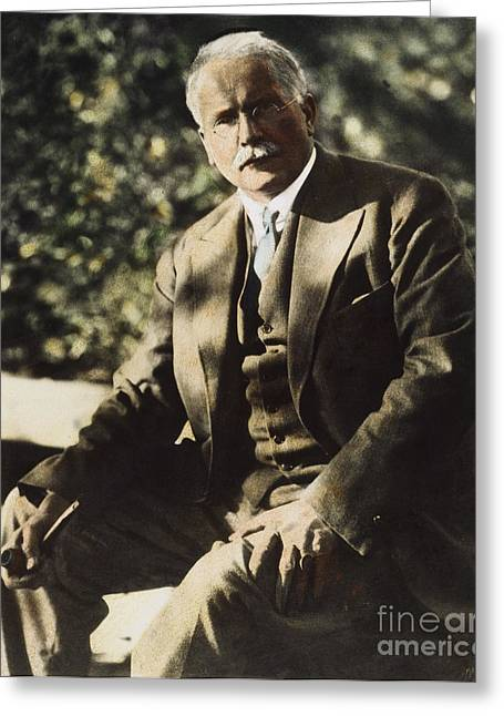 Best Sellers -  - Swiss Photographs Greeting Cards - Carl G. Jung  Greeting Card by Granger