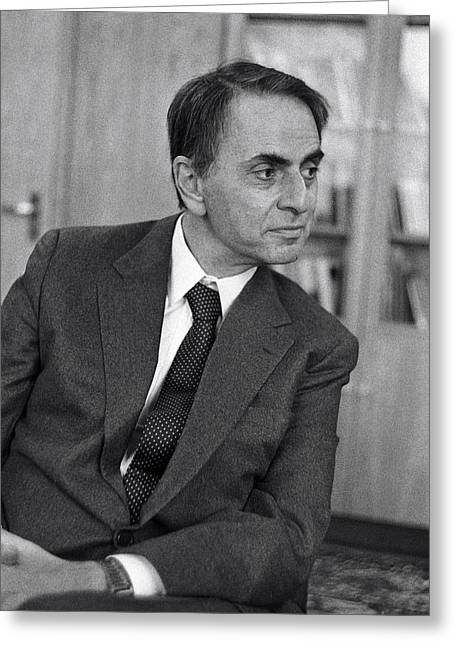 1987 Photographs Greeting Cards - Carl Sagan, Us Astronomer Greeting Card by Ria Novosti