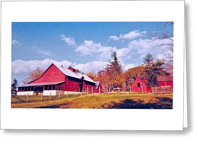 Red Roofed Barn Greeting Cards - Carl Sandburgs Home Greeting Card by Wayne Marsh