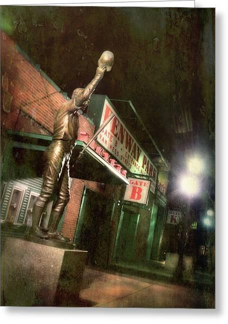 Carl Yastrzemski Statue - Fenway Park Boston Greeting Card by Joann Vitali
