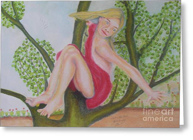 Tomboy Pastels Greeting Cards - Carla Greeting Card by Neil Trapp