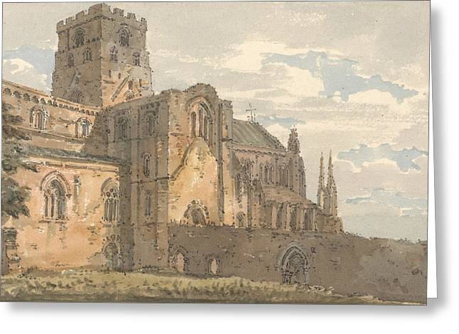 Carlisle Cathedral, Cumberland, From The South-west  Greeting Card by Thomas Girtin