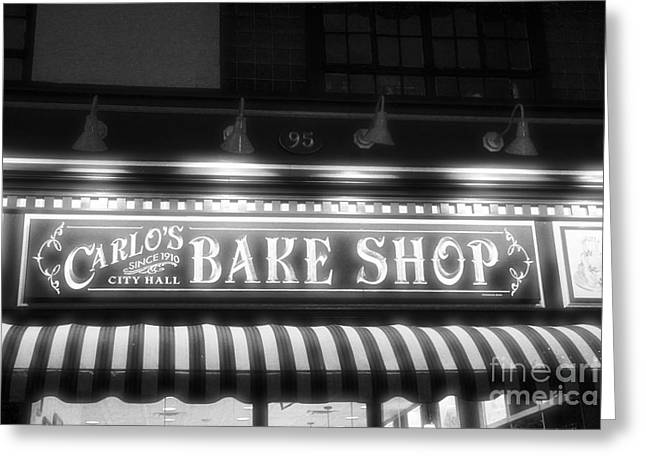 Light And Dark Greeting Cards - Carlos Bakery Black and White 2 Greeting Card by Marina McLain