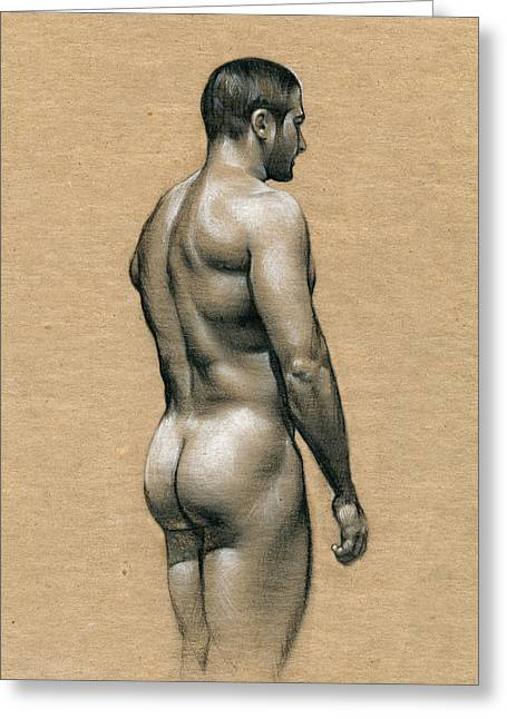 Figure Drawings Greeting Cards - Carlos Greeting Card by Chris  Lopez