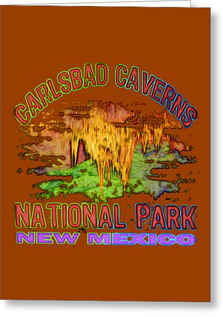 Carlsbad Caverns National Park Greeting Card by David G Paul