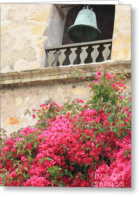 Carmel Mission Bell Greeting Card by Carol Groenen