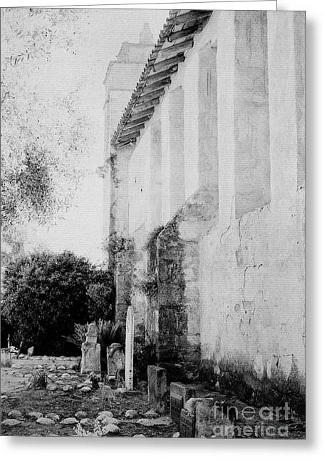 Carmel Mission Cemetery Greeting Card by Paul W Faust - Impressions of Light