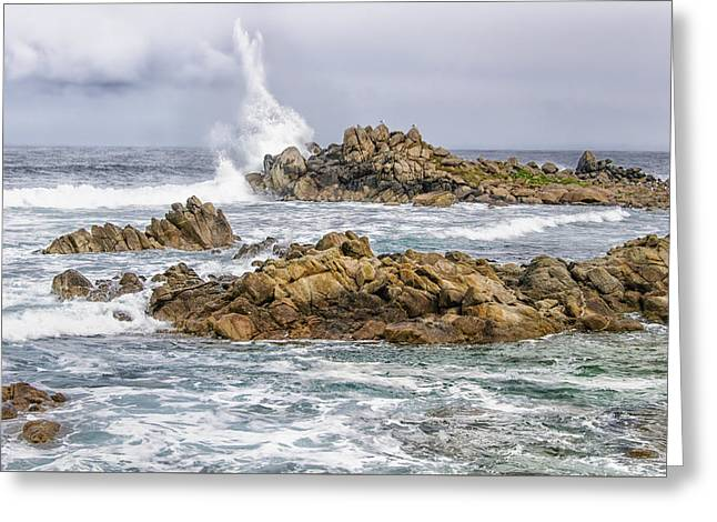 Point Lobos Surf Greeting Card by Alan Toepfer