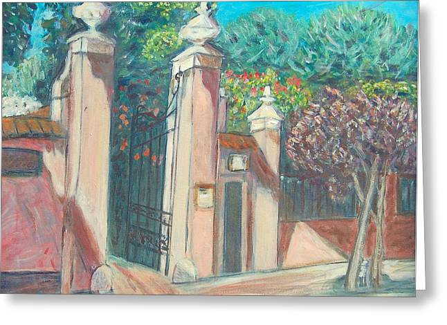 Carolyn Donnell Greeting Cards - Carmelite Monastery Greeting Card by Carolyn Donnell