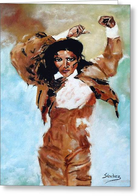 Carmen Amaya Greeting Card by Manuel Sanchez